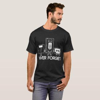 Never Forget Funny Floppy Disc Vhs Cassette Tech G T-Shirt