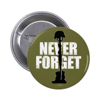 Never Forget Memorial Day Pinback Buttons