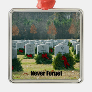 Never Forget Metal Ornament