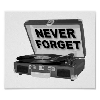 Never Forget Records Funny Poster