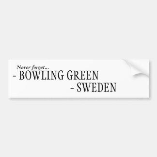 Never forget Sweden, Bowling Green Bumper Sticker