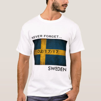 Never forget Sweden t-shirt