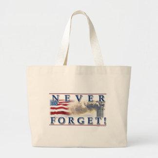 Never Forget T Shirt Jumbo Tote Bag