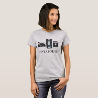 Never Forget the 80's VHS Cassette Floppy Disc Tee
