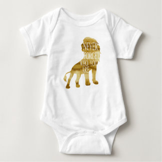 Never Forget Who You Are Baby Bodysuit