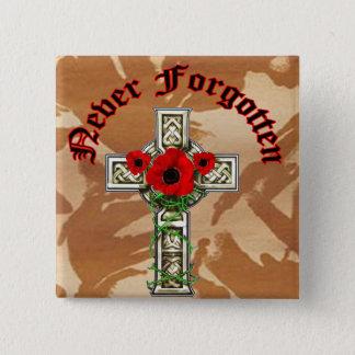 Never Forgotten 15 Cm Square Badge