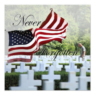 Never Forgotten - Memorial Day Card
