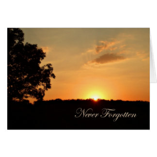 Never Forgotten Sympathy Get Well Card