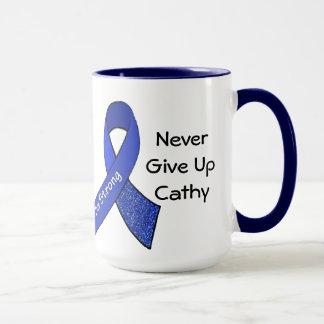 "Never Give Up ""Add Name"" CFS Big Mug"