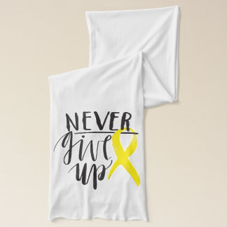 NEVER GIVE UP American Apparel Sheer Jersey S Scarf