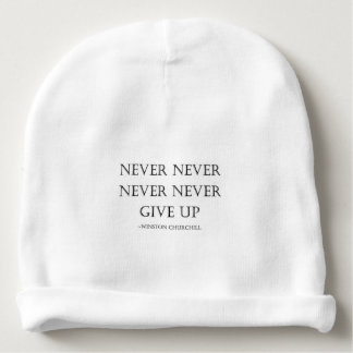 Never give up baby beanie