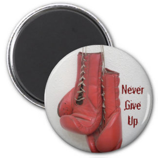 Never Give Up Button 6 Cm Round Magnet