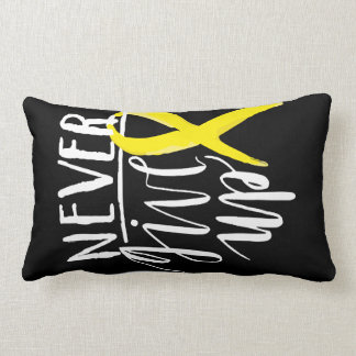 NEVER GIVE UP Cotton Throw Pillow Lumbar