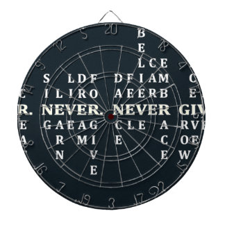 Never Give Up Dartboard