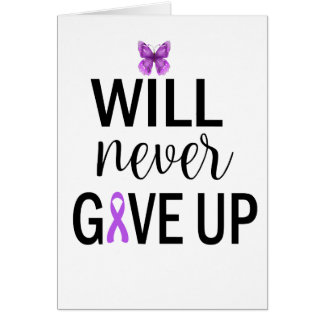 Never Give Up Fibromyalgia Greeting Card