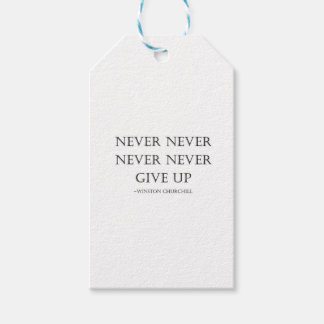 Never give up gift tags