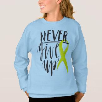NEVER GIVE UP Girls' Hanes Sweatshirt