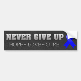 Never Give Up Hope Anal Cancer Awareness Bumper Sticker