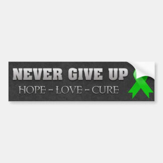 Never Give Up Hope Bile Duct Cancer Awareness Bumper Sticker