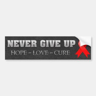 Never Give Up Hope Blood Cancer Awareness Bumper Sticker