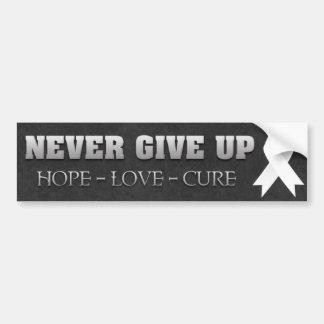Never Give Up Hope Bone Cancer Awareness Bumper Sticker