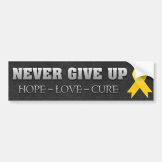 Never Give Up Hope Childhood Cancer Awareness Bumper Sticker