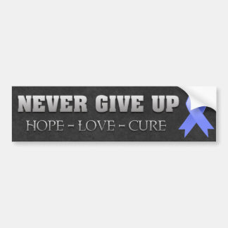 Never Give Up Hope Esophageal Cancer Awareness Bumper Sticker