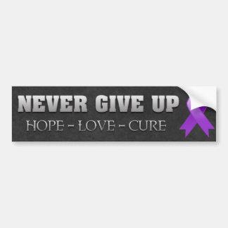 Never Give Up Hope GIST Cancer Awareness Bumper Sticker