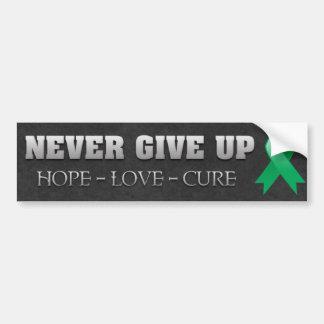 Never Give Up Hope Liver Cancer Awareness Bumper Sticker