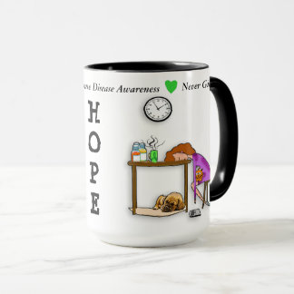 Never Give Up HOPE Lyme Disease Warrior Coffee Mug