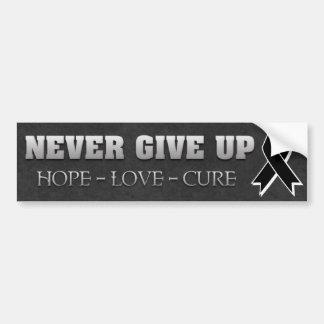 Never Give Up Hope Skin Cancer Awareness Bumper Sticker