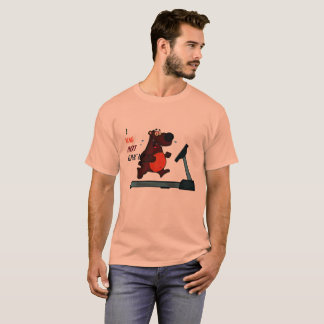 Never give up in gym by bear T-Shirt