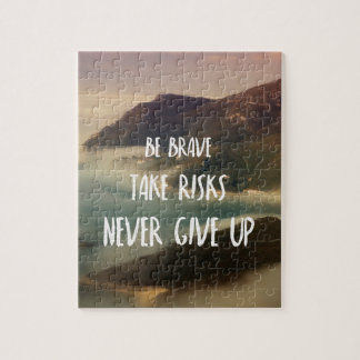 Never give up jigsaw puzzle