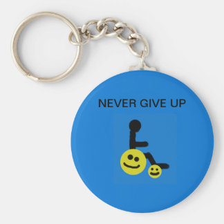 Never give up - keychain