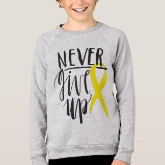 NEVER GIVE UP Kids Sweatshirt