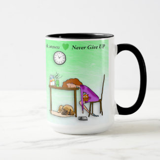 Never Give Up Lyme Disease Warrior Coffee Mug