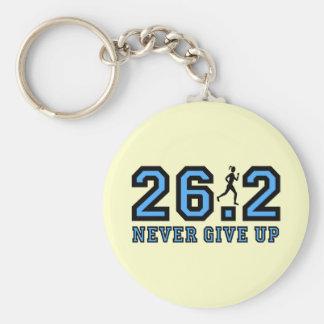 Never give up marathon key chains