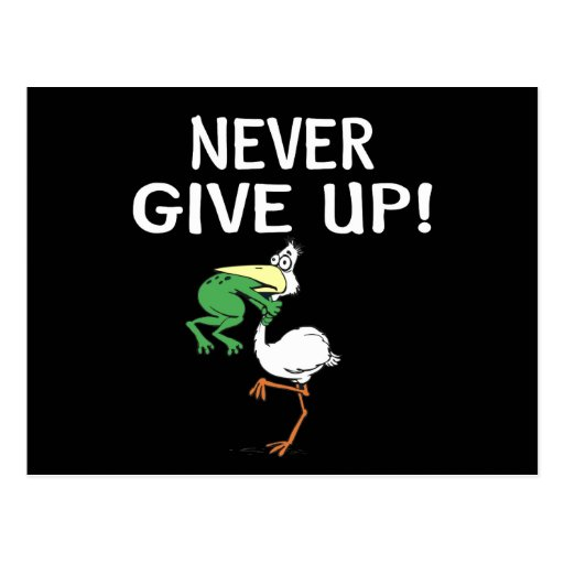 Never Give Up Post Cards