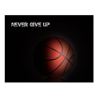 """NEVER GIVE UP"" POSTCARD"