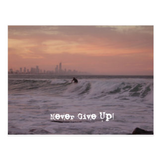 Never Give Up! Postcard