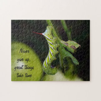 Never Give Up Tobacco Hornworm Tomato Plant Puzzle