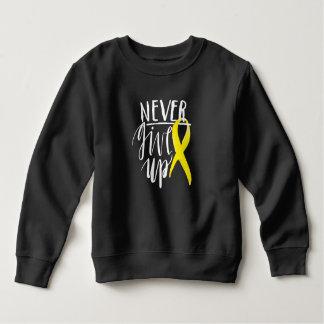 NEVER GIVE UP Toddler Fleece Sweatshirt