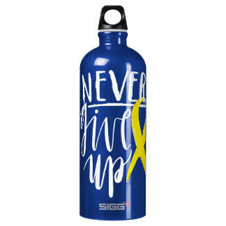 NEVER GIVE UP Traveller (1.0L), Dark Blue Water Bottle