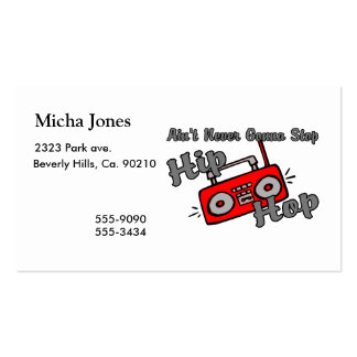 Never Gonna Stop Hip Hop Double-Sided Standard Business Cards (Pack Of 100)