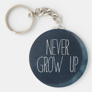 Never grow up key ring