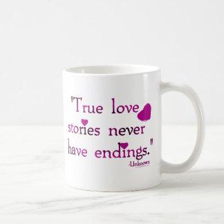 NEVER HAVE ENDINGS COFFEE MUG