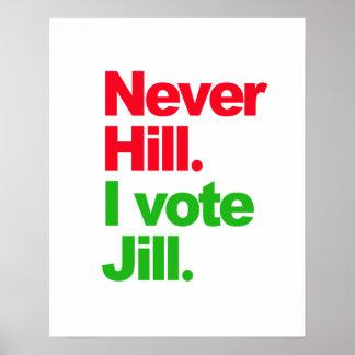 Never Hill I Vote Jill - - Jill Stein 2016 - Poster