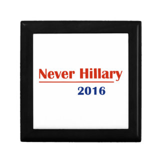 Never Hillary 2016 Small Square Gift Box