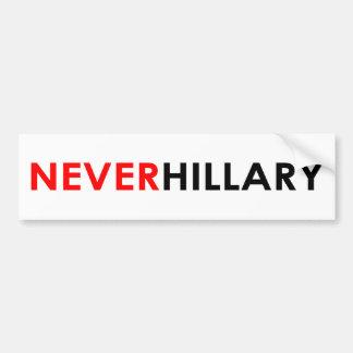 Never Hillary Bumper Sticker (White)