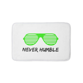 Never Humble Bat Mat Bath Mats